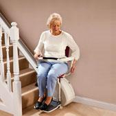 fauteuil monte escalier - escalier droit